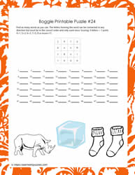 Game Puzzle Printable