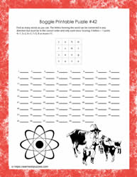 Printable Game - Boggle