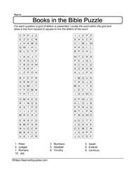 10 Grid Books of Bible Puzzle