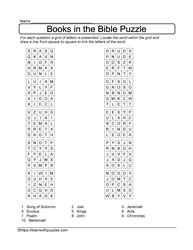 Books in the Bible Puzzle