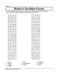 Locate the Bible Book Puzzle