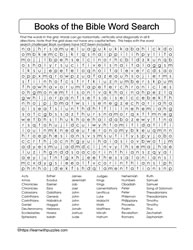 Books of the Bible 66 Wordsearch