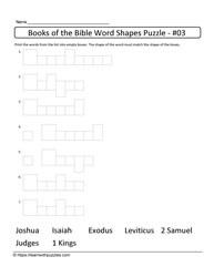 Word Shapes Puzzle-books of the Bible