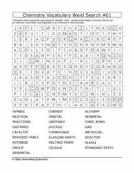 Chemistry Vocab Word Search #01