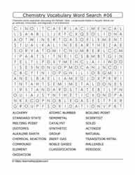 Chemistry Vocab Word Search #06