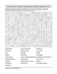 Chemistry Vocab Scrambled Word Search #01