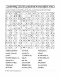Chemistry Vocab Scrambled Word Search #02