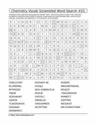 Chemistry Vocab Scrambled Word Search #03