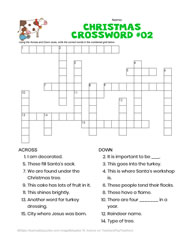 Xmas Crossword for Google Apps & PDF