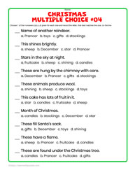 Xmas Multiple Choice-Google Apps&PDF