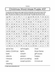 Interactive Word Maze Puzzle