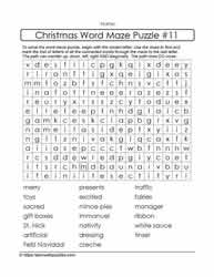 Word Maze - Christmas Puzzle