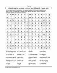 Scrambled Letters WordSearch