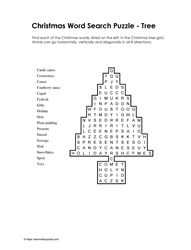Easy Xmas Word Search