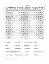Word Search for Xmas