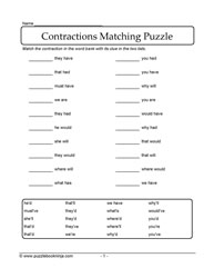 Contraction Matching Puzzle