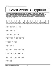 Desert Animals Cryptolist