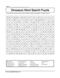 Dinosaur Word Find