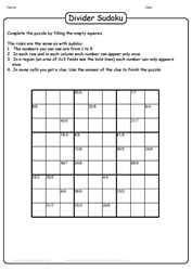 Fun With Puzles - Division Sudoku