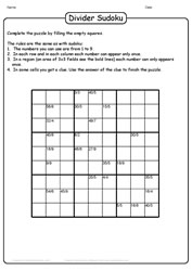 Sudoku With Dvision Twist