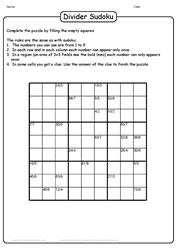 Division Sudoku Challenge