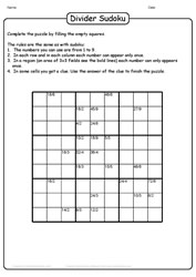 Sudoku With a Divider Twist