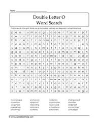 Double Letter O Words Search