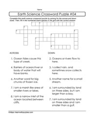 Earth Science Crossword