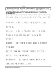 Hint Free Earth Science Cryptogram