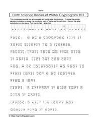 Earth Science Cryptogram