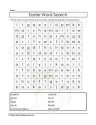 10 Easter Words WordSearch
