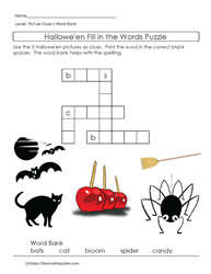 Crossword Puzzle Halloween Theme