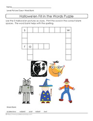 Picture Clues Halloween Puzzle