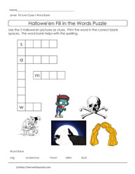 Halloween Picture Puzzle ELL