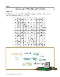 Halloween Printable Puzzle