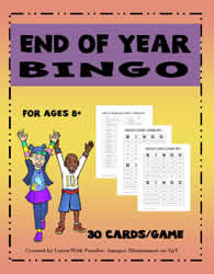End of Year Bingo Game#01