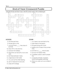 Crossword End of Year