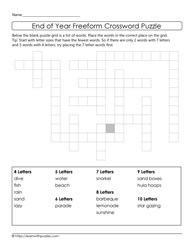 Dig Deeper End of Year Puzzle