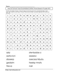 EOY WordSearch Puzzle