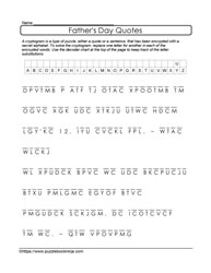 Father's Day Cryptogram