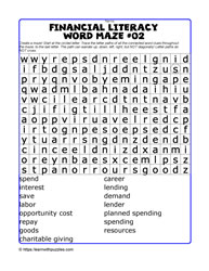 Financial Literacy Wordmaze#02