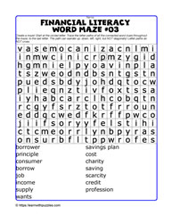 Financial Literacy Wordmaze#03