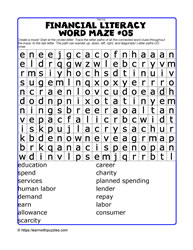 Financial Literacy Wordmaze#05