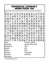 Financial Literacy Wordmaze#06