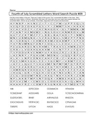 Fourth July WordSearch