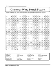 Word Find Grammar Puzzle