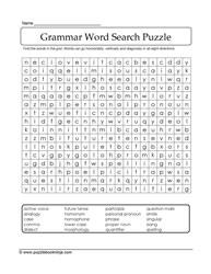 Word Search Grammar Words