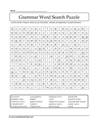 Grammar Word Search