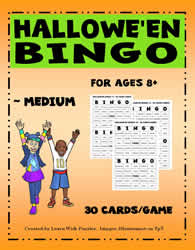 Halloween Bingo Game - Medium