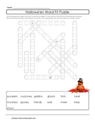 WordFit Halloween Puzzle